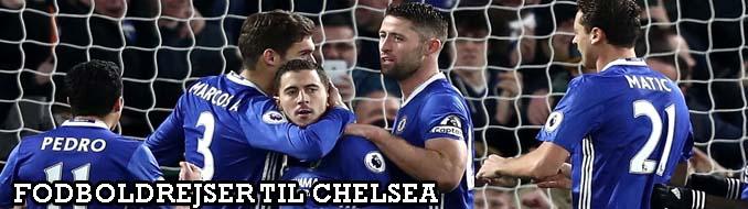 Køb billige fodboldrejser til Chelsea og fodboldbilletter til Chelsea. Vi tilbyder gode Premier League fodboldoplevelser på Stamford Bridge i London