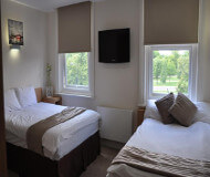 Queens hotel værelse i London. Tæt på Emirates Stadium og Arsenal