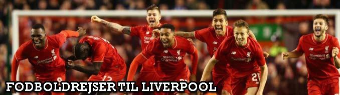 Køb billige fodboldrejser Liverpool og fodboldbilletter Liverpool. Vi tilbyder gode fodboldoplevelser på Anfield Road Stadium i Premier League og Champions League
