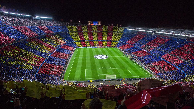 Camp Nou fodboldbilletterne til kategori 4 bag mål i 3.ring er med et godt overblik af banen. Køb fodboldbilletter til Barcelona kampe her.