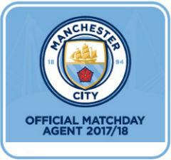 Official billet logo. vi er officiel billetagent hos Man. City og sælger lovlige fodboldbilletter