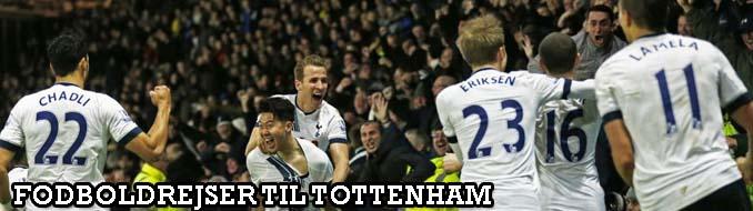 Her kan du booke billige fodboldrejser til Tottenham. Vi har officielle fodboldbilletter til  Tottenham fodboldkampe i Premier League og Champions League